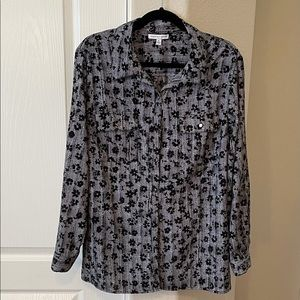 Notations black & white blouse